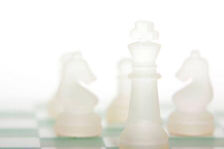 Een schaakpartij Stockfoto