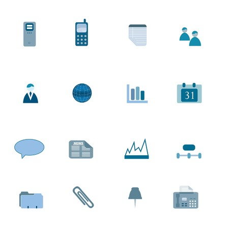 Business icons in blue tones Stock Photo