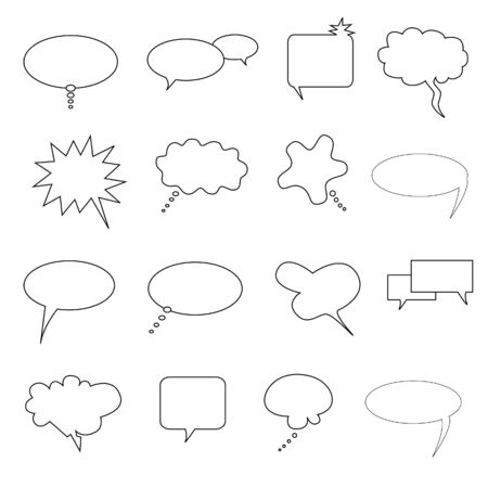 Speech, talk and thought bubbles and captions Stock Photo - 6961338