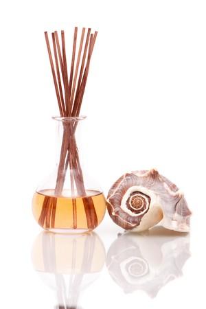 Aromatherapy oil with seashell