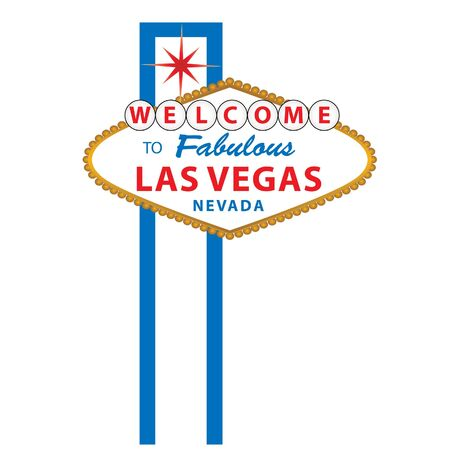 Welcome to Fabulous Las Vegas Nevada sign Standard-Bild - 7085886