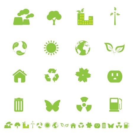 related: Ecology and clean environment related symbols and objects