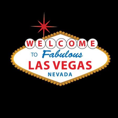 Welcome to Fabulous Las Vegas Nevada-Zeichen  Standard-Bild - 7110525