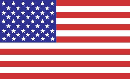 american flags: Bandera de Estados Unidos para el cuatro de julio  Vectores