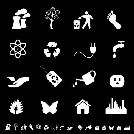 Environment firendly ecology symbols icon set Stock Vector - 7164097