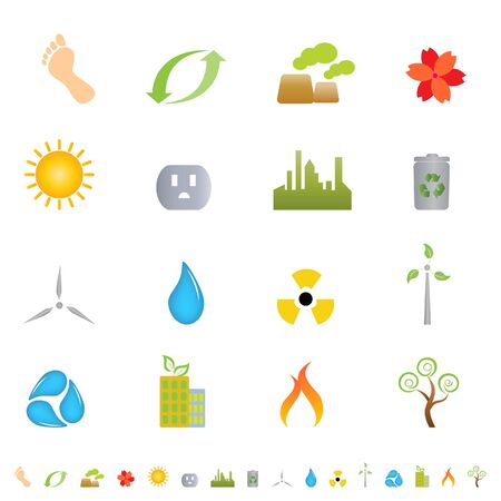 Green environment related icon set Stock Photo - 7227629