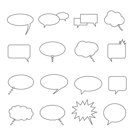Speech, thought and talk balloons and bubbles Stock Photo - 7227631