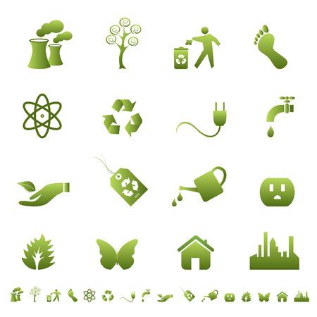 atomique: Un environnement propre et symboles �cologie et des signes Illustration