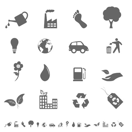 Milieu en milieu pictogrammen en symbolen