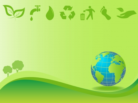 Clean green environment and earth