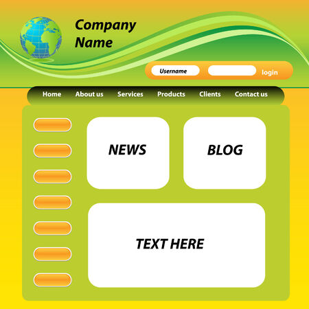 site: Template for web site design