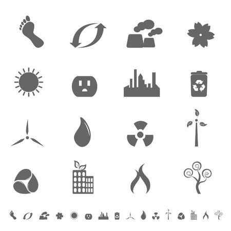 Ecologic symbols in icon set Stock Photo - 7301293