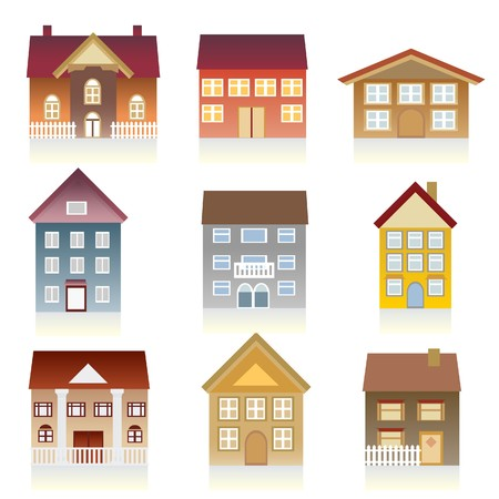 architectural styles: Houses with various architectural styles