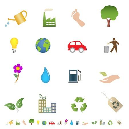 エコ ・ グリーン環境関連アイコン