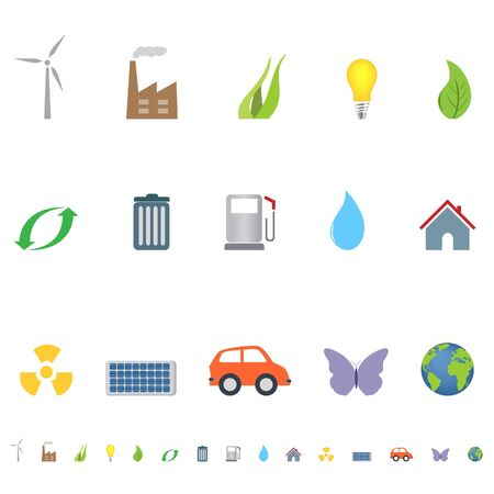 Eco and environment symbols and icons Stock Photo - 7408353