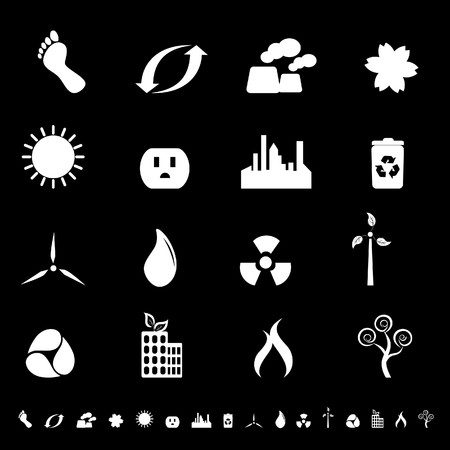 Clean environment and energy icons and symbols photo