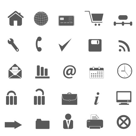 printer drawing: Web site, internet and e-commerce icons