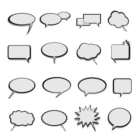 Talk, speech and thought bubbles and balloons Stock Photo - 7445876