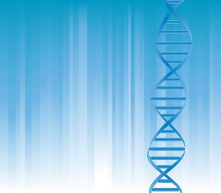 Bundel van DNA op blauwe achtergrond met copyspace Stockfoto