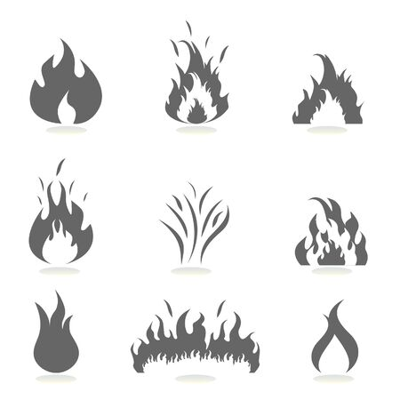 회색으로 설정된 불꽃 아이콘