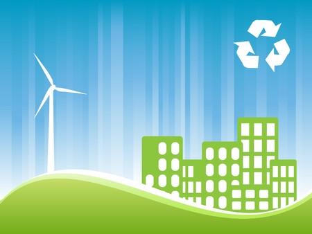 Environmentally conscious eco friendly town Stock Photo - 7547543