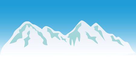 Snowy mountain peaks in winter Stock Photo - 7547541