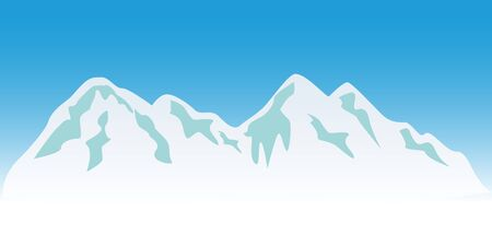 Snowy mountain peaks in winter Stock Photo - 7547541