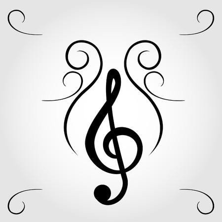 violinschl�ssel: Violinschl�ssel f�r Noten