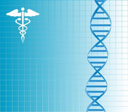 Bundel van DNA met caduceus