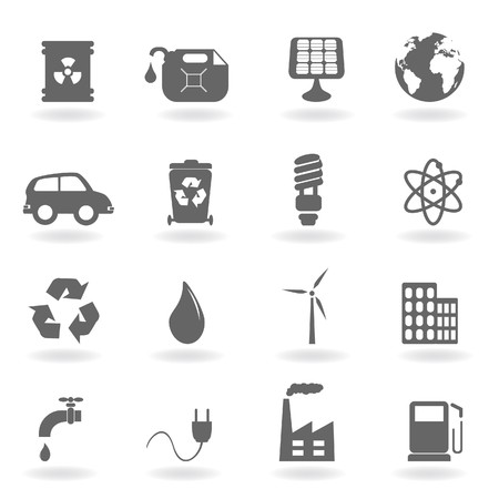 Ecology and environment related icon set photo