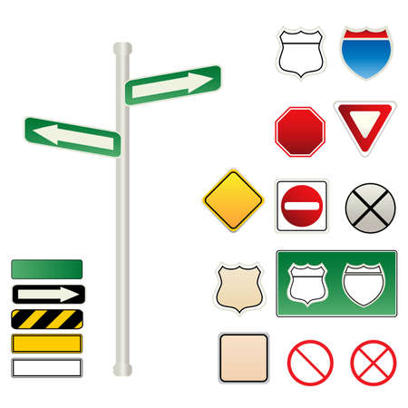 Various traffic and road signs photo
