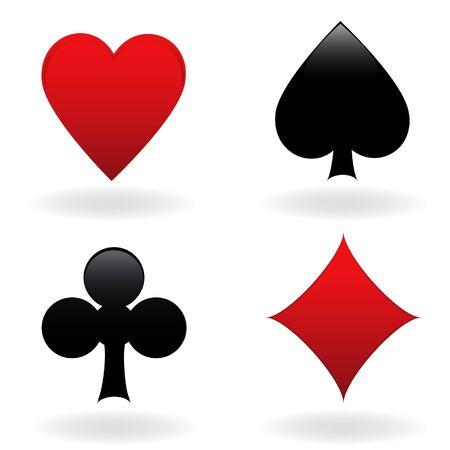 Diamond, heart, spade and club Stock Photo - 7717465