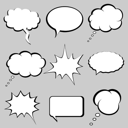 Speech and thought bubbles, balloons