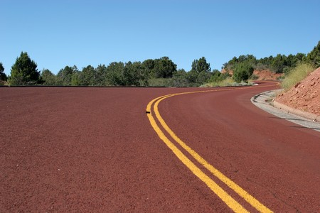 Winding desert road in southwest USA