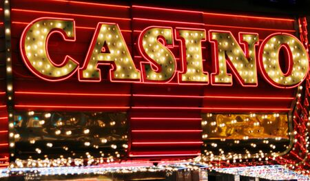 Bright casino neon signs Banque d'images