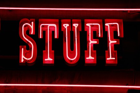 stuff: Neon lights sign spelling stuff