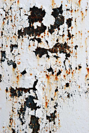 chipped paint: Chipped paint on metal surface Stock Photo