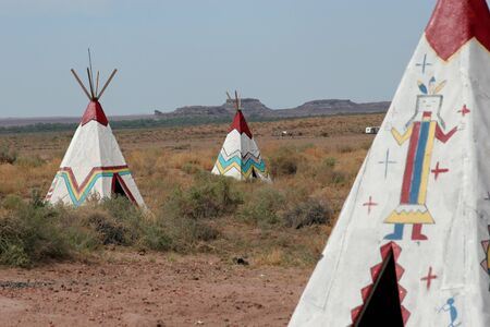 teepee: Native American teepees in Arizona Stock Photo
