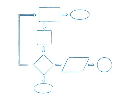 Database diagram or flowchart Stock Photo - 7743180