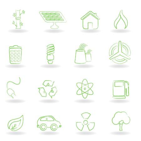 Eco and environmet related symbols Stock Photo - 7880275