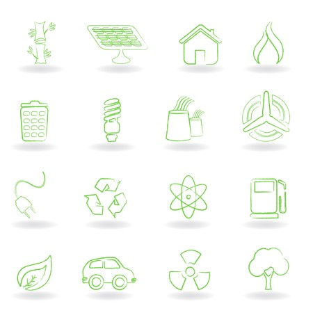 windturbine: Eco and environmet related symbols
