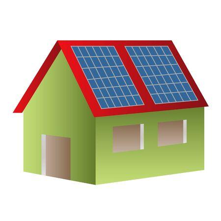 House powered with solar panels Reklamní fotografie - 7880270