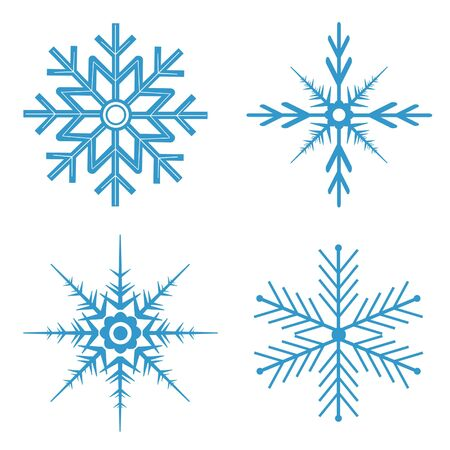 Blue snowflakes for winter time Stok Fotoğraf