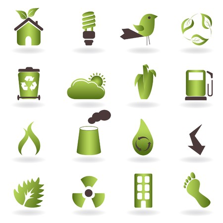 recycling: Eco related symbols and icons