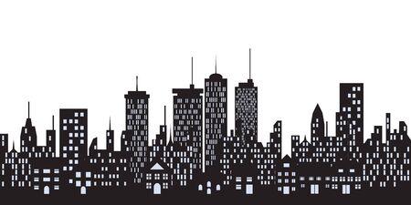 Big city skyline with tall buildings Stock Photo - 8004723
