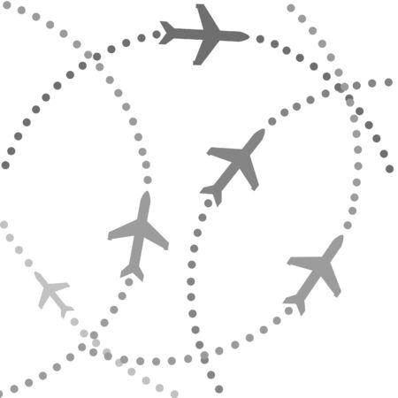 Planes speeding on their flight paths