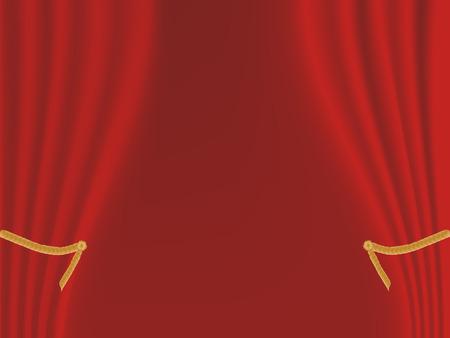 Rideau de scène de velours rouge  Banque d'images - 8106876