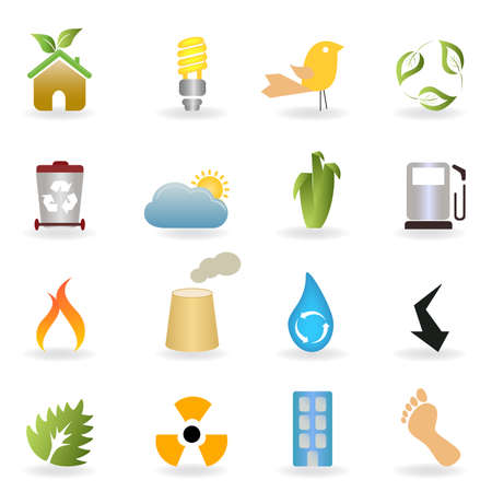 Eco and clean environment buttons Stock Vector - 8106882