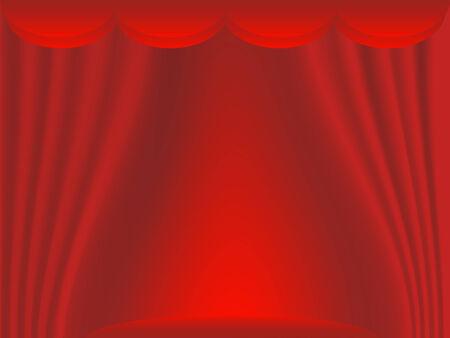 Scène de théâtre avec rideaux rouge Banque d'images - 8193427