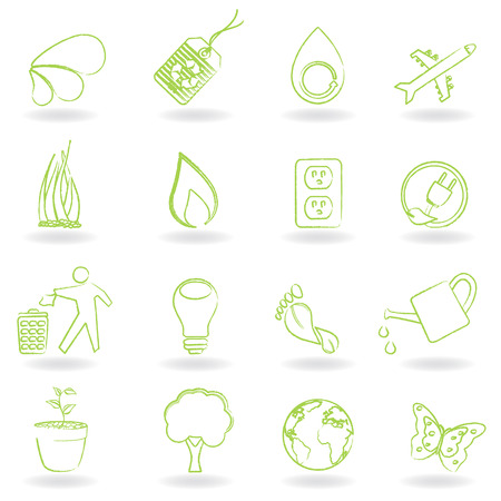 Clean green environment and ecology symbols Stock Vector - 8193428